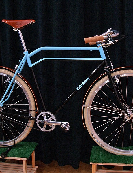 Civilian Bicycle Company arguably stole the show with this beautiful townie.