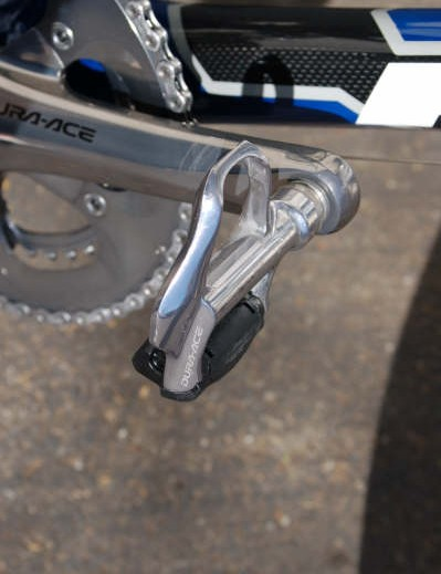 The Aussie quickly adjusted to Shimano's Dura-Ace pedals after a long stint on Speedplay
