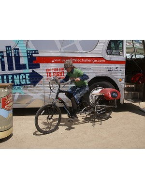 Clif Bar is still forging ahead on sustainability as demonstrated by this human-powered stereo