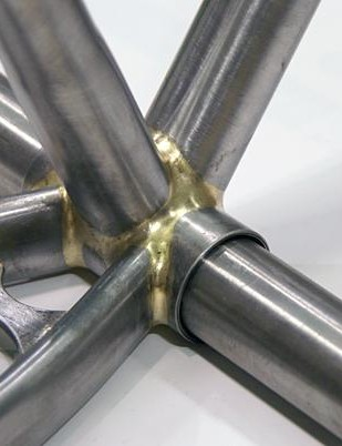 Fillet brazing yields a cleanly radiused joint.