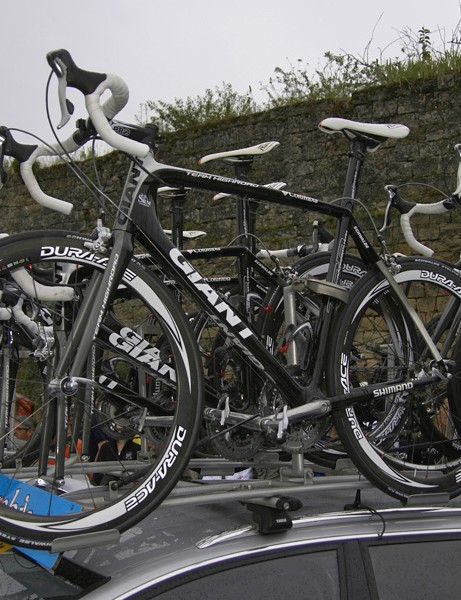As if that already weren't enough, there were also deep-section Shimano Dura-Ace wheels on top of the car…