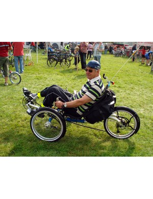 There were human powered machines of all types at Bike Blenheim Palace