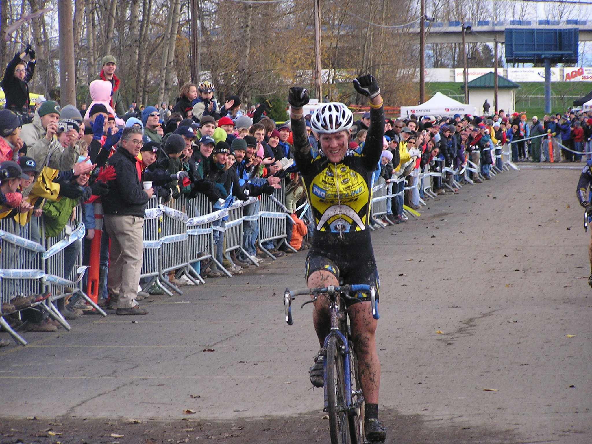 Katie Compton enjoys her fifth consecutive cyclo-cross national title Sunday.