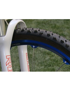 The 'Y'-shaped rim attaches the paired spokes so that the outer wall is solid and airtight