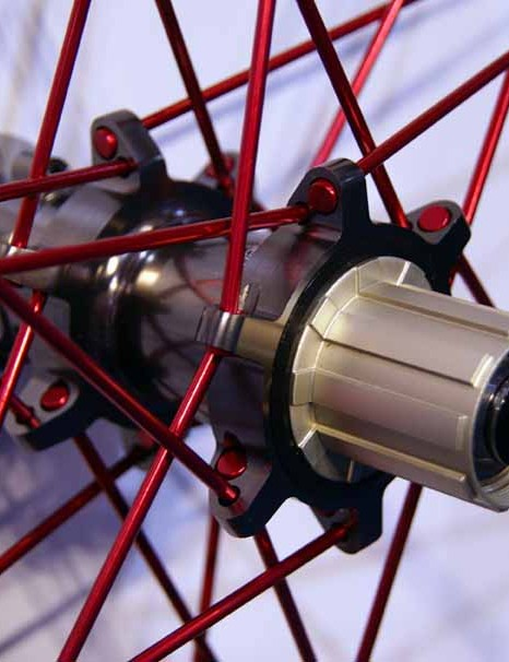 The DH-specific Opium includes a thru-axle rear hub.