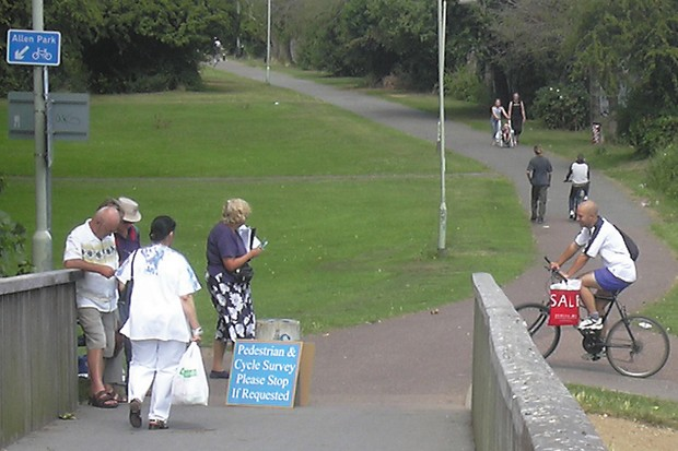 Stand up and be counted - Sustrans counts off-highway bike use