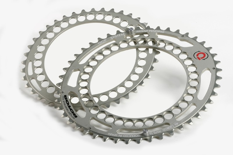 Rotor's comprehensive range of elliptical Q-Rings also includes a 'cross-specific' 36/46T set for use with 110mm BCD cranksets