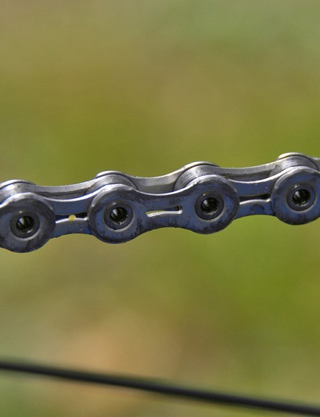 …and inside of the chain for better shift performance.