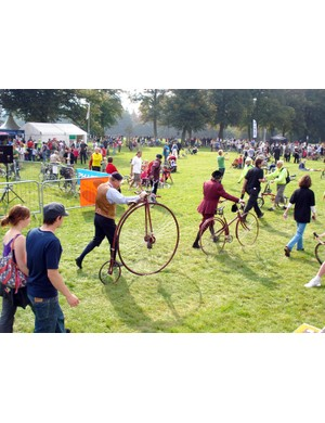 Vintage bicycles were part of the event