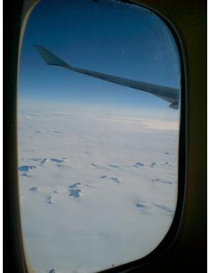 Greenland below..