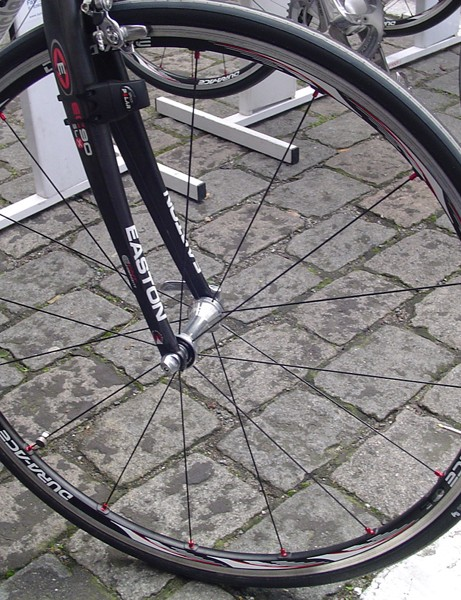 FDJ used Shimano WH-7850-SL scandium-rimmed clinchers fitted with Hutchinson Fusion 2 tubeless tyres