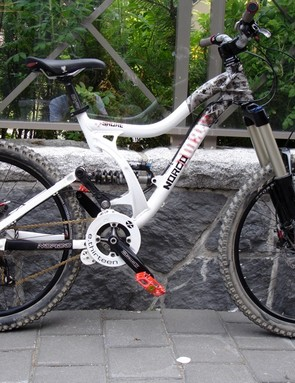 The Shore One. Production bikes will feature the SRAM Hammerschmidt system