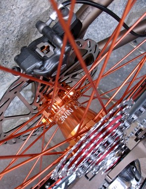 The beautiful Industry Nine wheels in go faster Orange