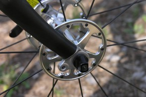 Radial front wheel spoking