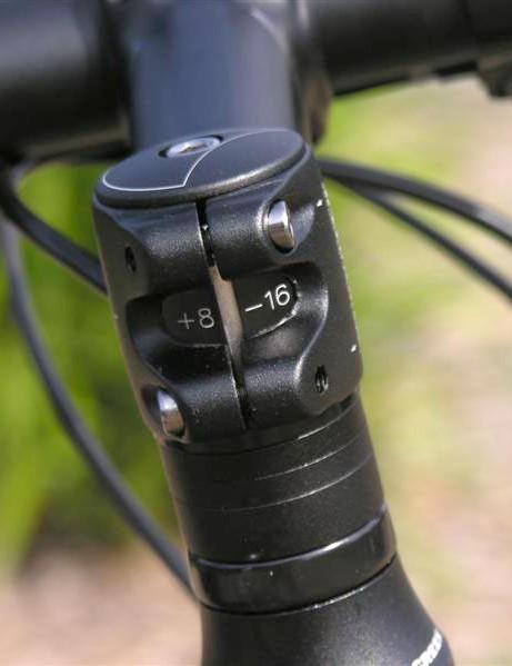 Shimmed stem gives a range of angles