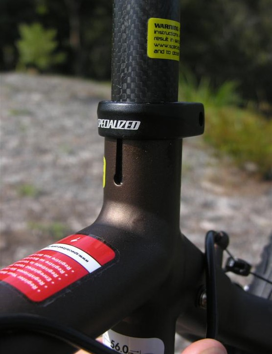 Seat tube slot at the front, as it should be