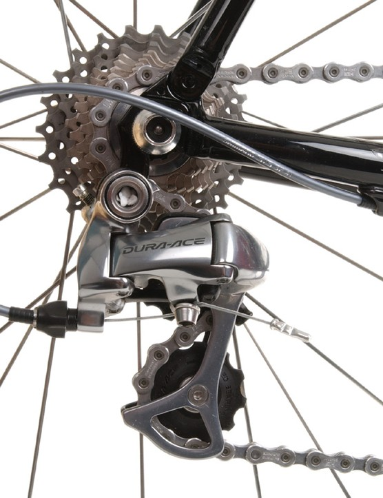 Predictably smooth shifting from the Shimano Dura-Ace rear derailleur
