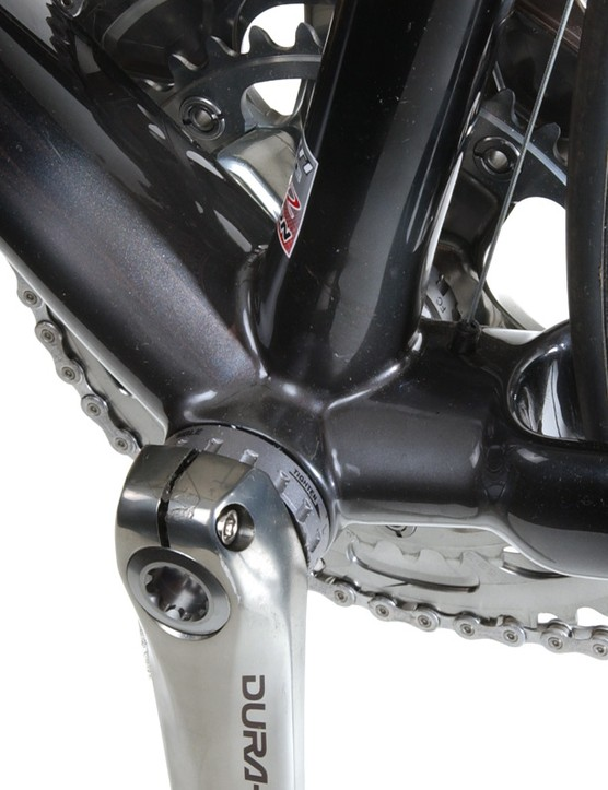 Huge bottom bracket area - another stiffness-enhancing touch