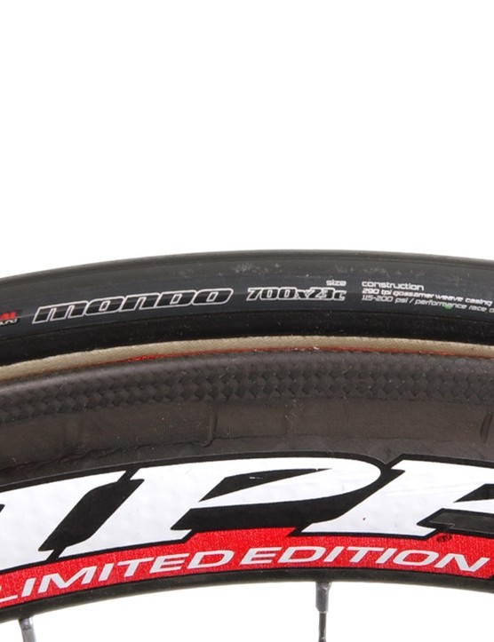 Specialized's Mondo tubulars are a rare but effective spec.