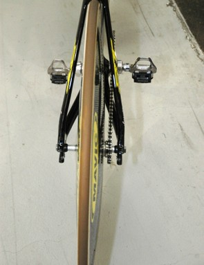 The rear end is streamlined, in keeping with the rest of the bike