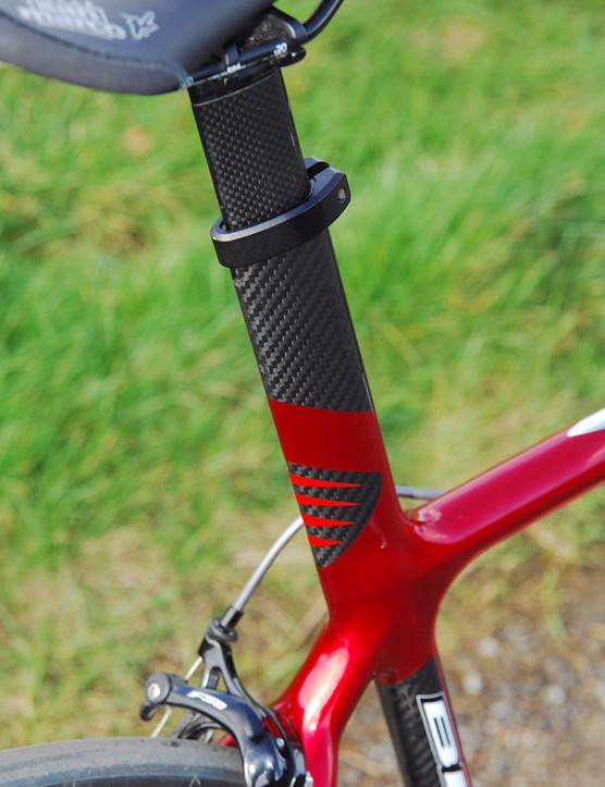 Stub-style post provides a few centimetres of seat height adjustment
