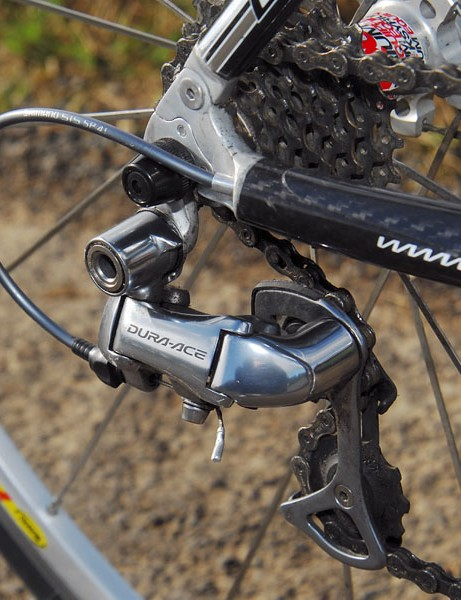 Shimano Dura-Ace rear derailleur would work better if the cable routing were external