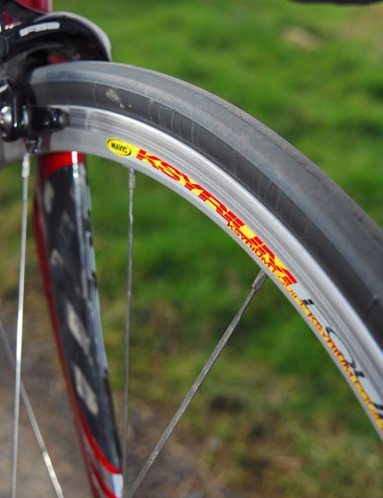 Mavic Ksyrium Equipe wheels. They work.