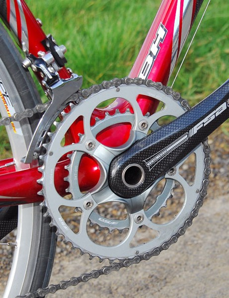 Stiff and good-shifting FSA crank could be a bit narrower