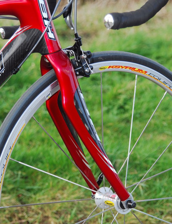 A stiffer fork would help fix the BH's handling problems