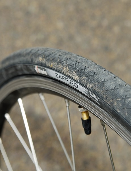 The Vittoria Zaffiro tyres staved off punctures during our test