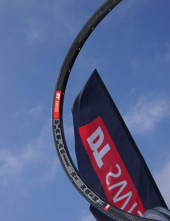 The DT Swiss XRC380 carbon fibre mountain bike rim is ultralight and ultra-expensive.