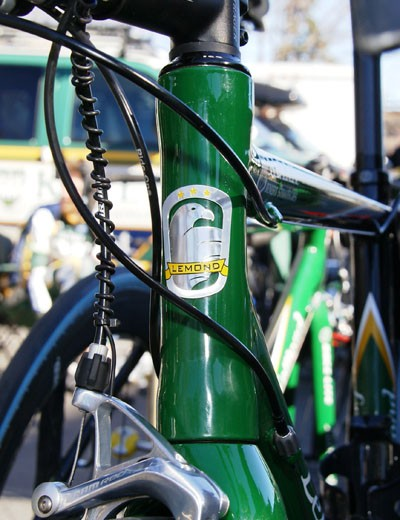 LeMond's latest head tube badge.