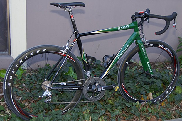 The Kelly Benefit Strategies-Medifast team is racing this year on carbon fibre LeMond Triomphe bikes