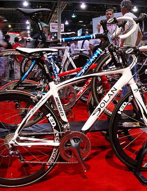 The Dolan name also makes its way on to the road with the Hercules, Tuono and Aurora (not shown) carbon frames.
