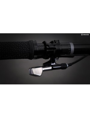 Bontrager will offer under the bar as well at top-mounted levers for the Drop Line