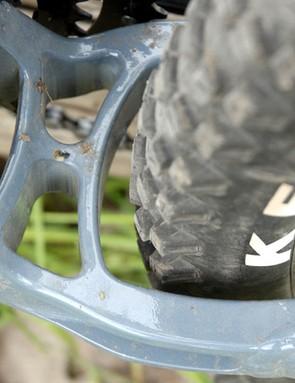 Rear tyre clearance