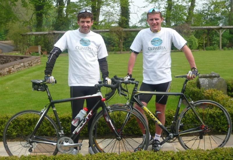 Scott Martin and Matthew Wilson with bikes from ride supporter Scott