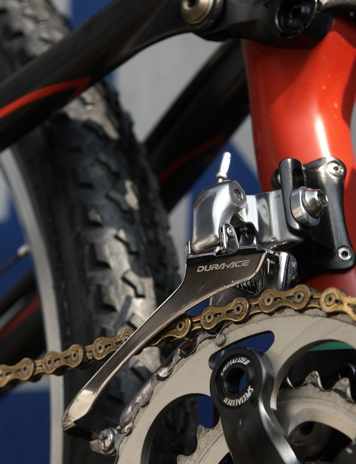 A braze on Dura Ace front mech was just one of the integration notes