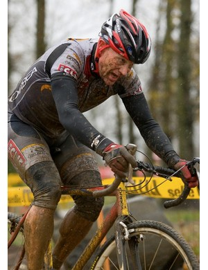 Mud doesn't slow Erickson down.