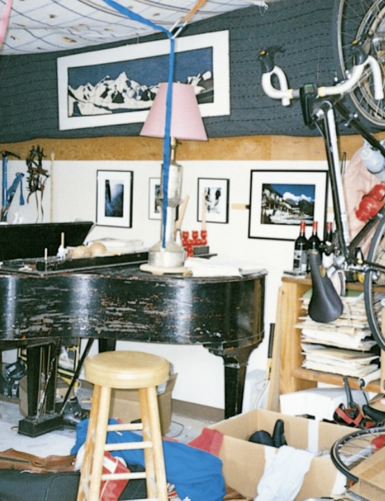 Erickson's 1990 home, a Berkeley garage.