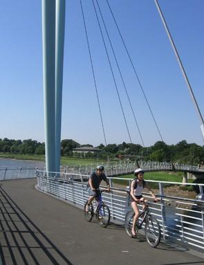 Existing demo town Lancaster's Millenium Bridge