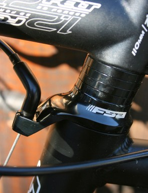 FSA's smart integrated front brake cable guide.