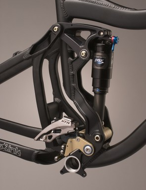 The Freebird's linkage generates 6.5 inches of travel from its DW-link design