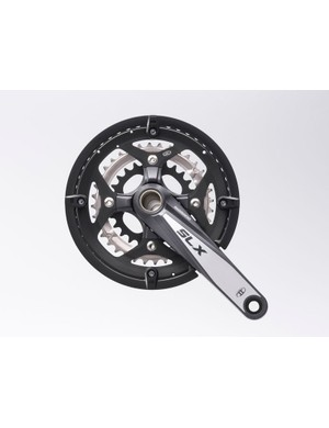 Triple crankset with 48 tooth big ring plus chainguard