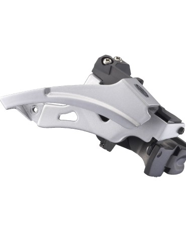 Shimano will offer Saint with an optional  double-specific front derailleur.