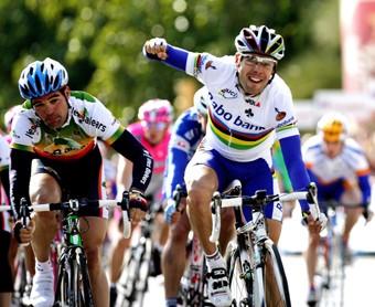 Cycling: Tour of Mallorca / Stage 1 Isac GALVES ( Esp ) / FREIRE Oscar ( Esp ) Celebration Joie Vreugde Etape Rit