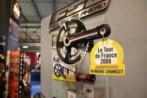 FSA's K-Force light compact crankset, as used by 2008 Tour De France winner Carlos Sastra