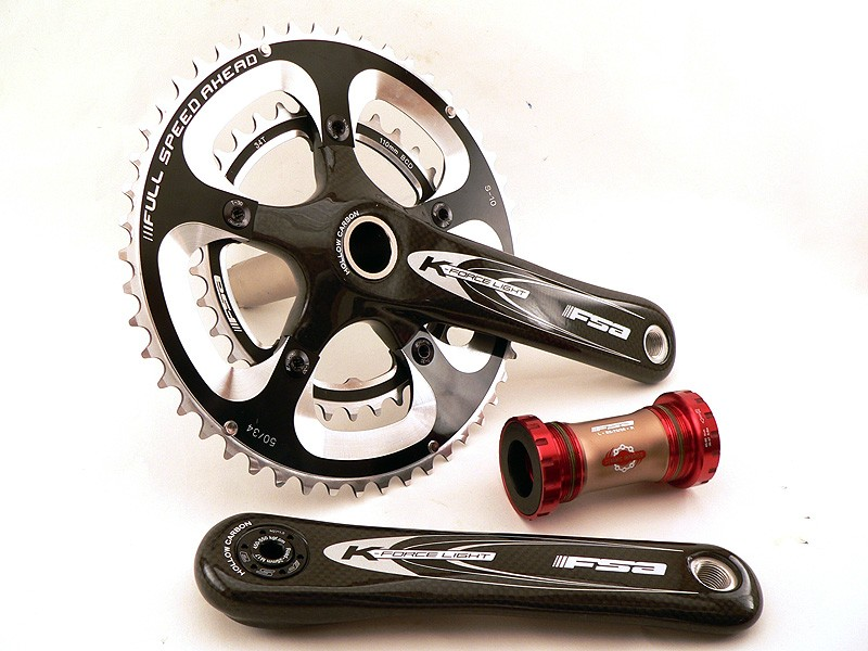 FSA has launched a new titanium-spindled version of the standard K-Force Light road crankset