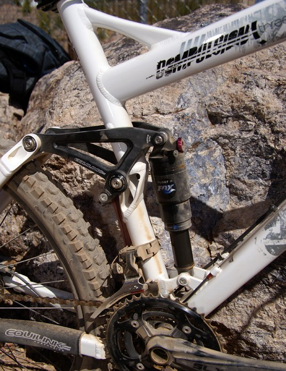 A newly kinked seat tube allows the use…