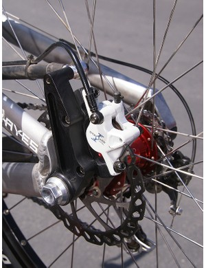 A floating rear brake mount should help keep the rear wheel firmly planted.